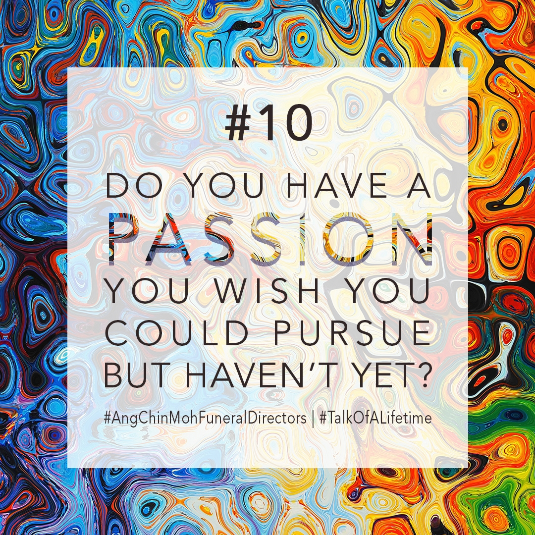 Do you have a passion you wish you could pursue but haven't yet