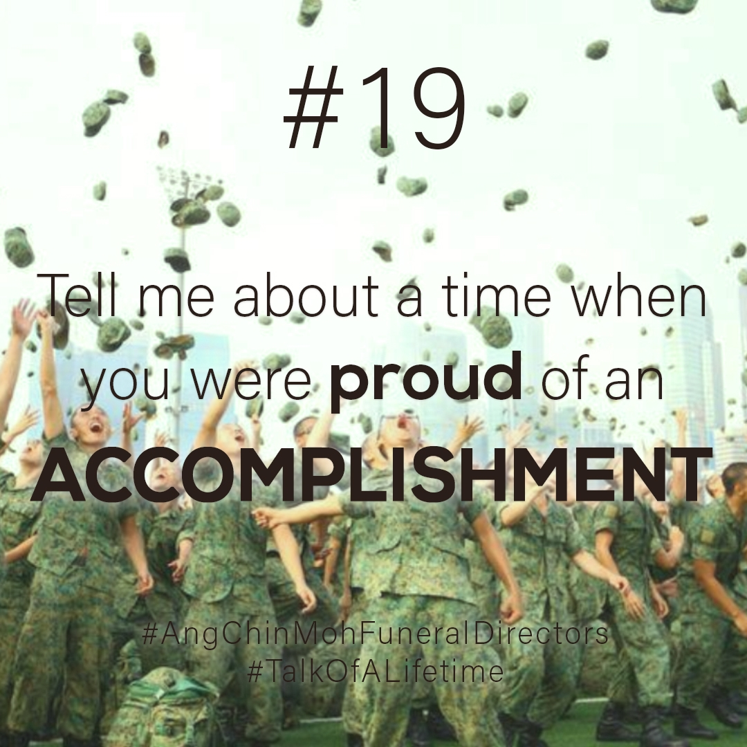 Tell me about a time when you were proud of an accomplishment?