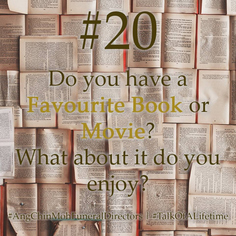 Do you have a favourite book or movie? What about it do you enjoy?