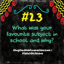What was your favourite subject in school and why?