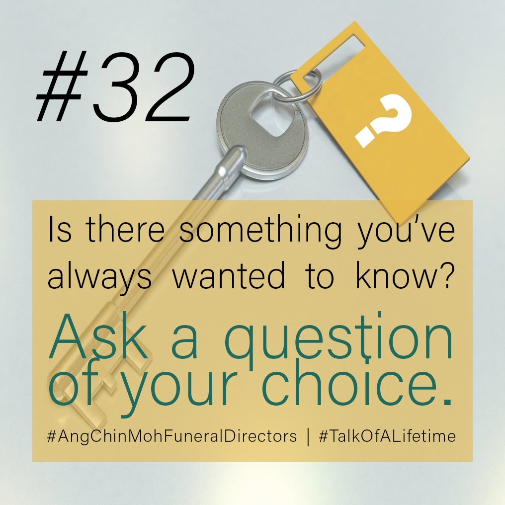 Is there something you've always wanted to know? Ask a question of your choice.