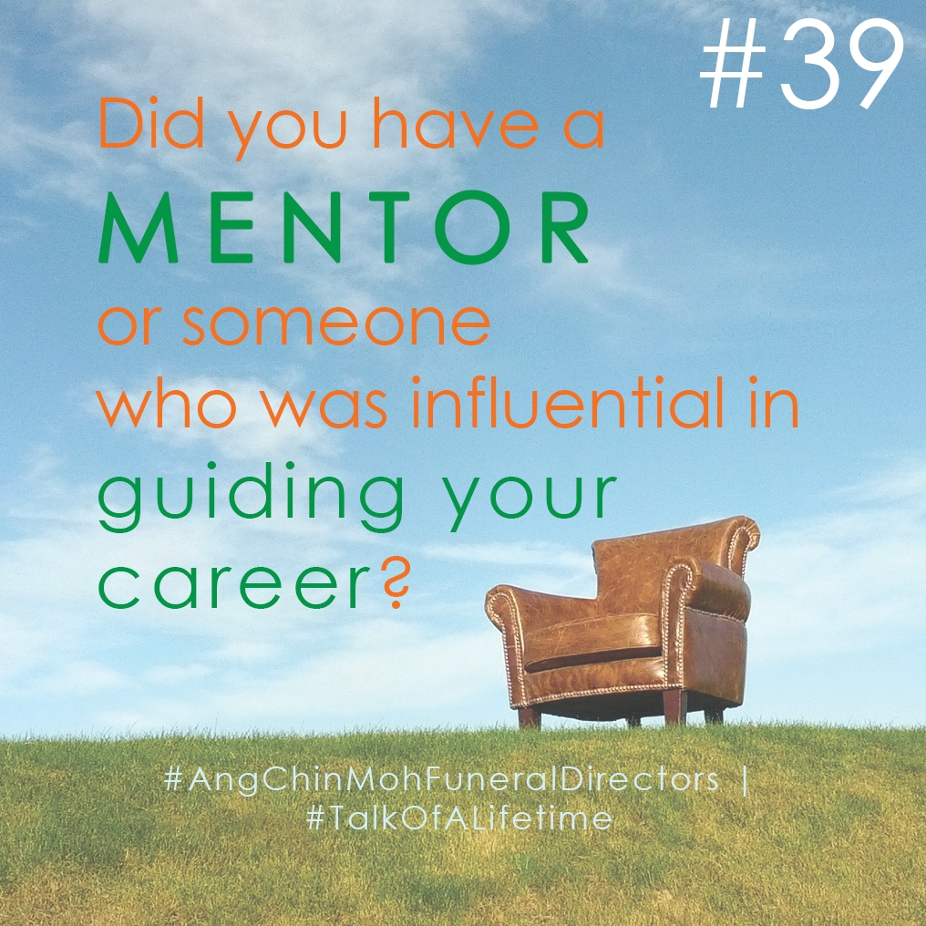 Did you have a mentor or someone who was influential in guiding your career