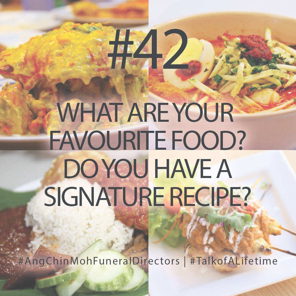 What are your favourite food? Do you have a signature recipe?