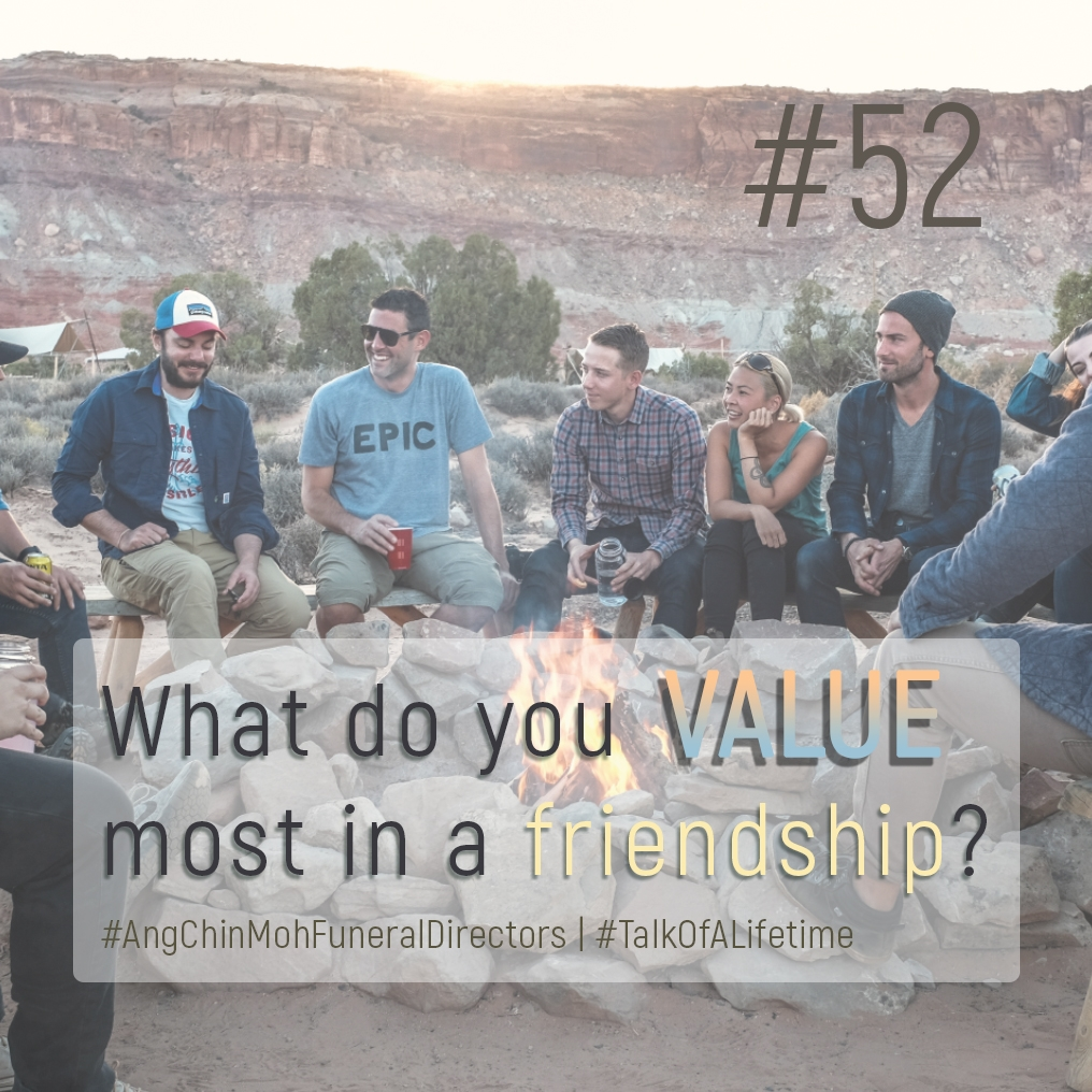 What do you value most in a friendship?